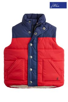 Joules Red Matchday Padded Gilet