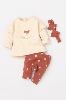Fox Cord Pini With Bodysuit And Tights (0mths-2yrs)