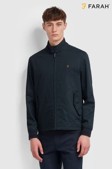 Farah Blue Hardy Harrington Jacket