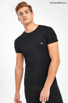 Emporio Armani Black Gold Logo Lounge T-Shirt