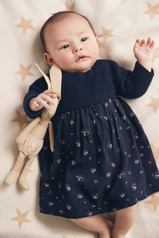 Ditsy Print Dress (0mths-2yrs)