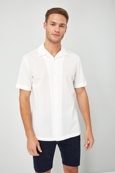 Short Sleeve Seersucker Rever Shirt