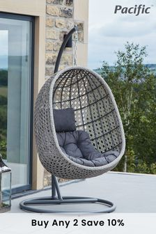 Pacific Single Stone Grey Hanging Chair