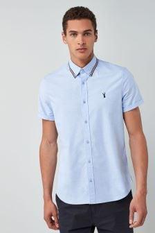 Short Sleeve Tipped Oxford Shirt