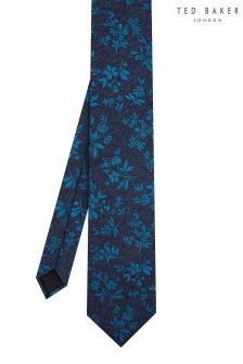 Ted Baker Teal Jasp Floral Tie