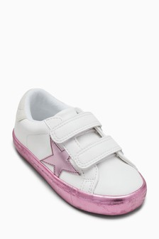 Touch Fastening Star Trainers (Younger)