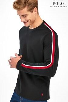 Polo Ralph Lauren Black Taped Sweat Top