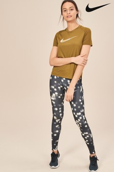Nike Black All Over Print Essential Tight