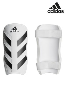 adidas White Everlite Shin Guard