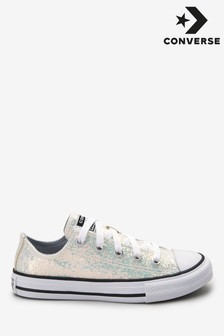 Converse Youth Glitter Chuck Ox Trainers