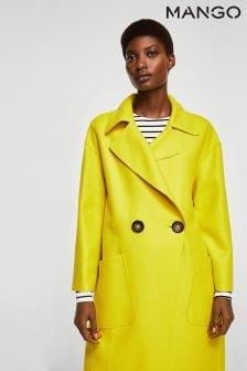 Mango Yellow Car Coat