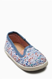 Ditsy Print Slip-On Crawlers (Younger)