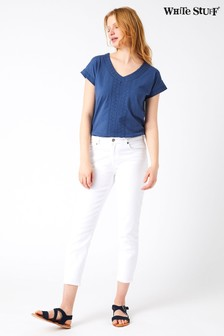 White Stuff White White Denim Crop Trouser