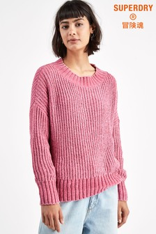 Superdry Pink Slouchy Knit Jumper