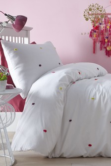 Appletree Lotte Tufted Cotton Duvet Cover And Pillowcase Set
