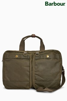Barbour® Olive Lowerfell Wax Bag