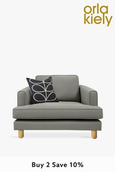 Orla Kiely Willow Snuggle Sofa with Oak Feet