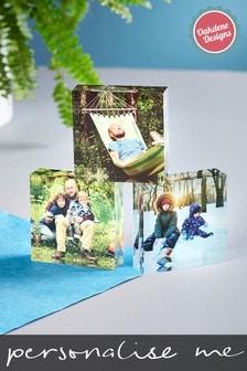Set of 3 Personalised Photo Upload Acrylic Photo Blocks by Oakdene Designs