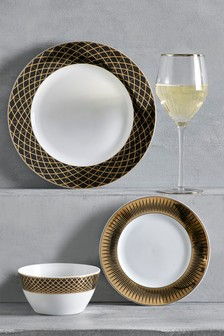 12 Piece Carrington Dinner Set