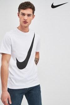 Nike White Swoosh Tee