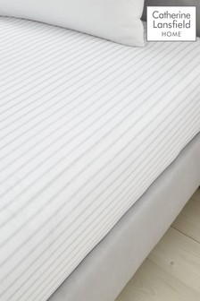Ticking Stripe Fitted Sheet by Catherine Lansfield