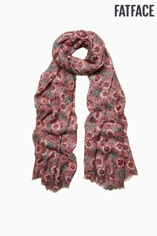 FatFace Pink Posy Floral Scarf