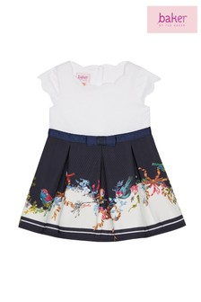 baker by Ted Baker Baby Girl Navy Printed Dress
