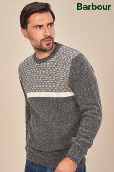 Barbour® Grey Houghton Crew Jumper
