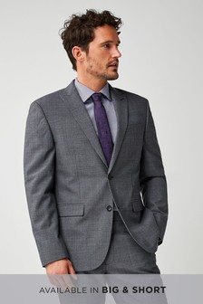 Regular Fit Stripe Wool Blend Suit