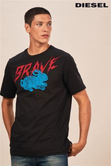 Diesel® Black Brave Rabbit T-Shirt