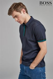 BOSS Navy Paxto Polo