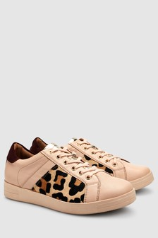 Signature Comfort Leather Lace-Up Trainers