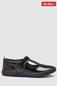 Kickers® Black Kariko T-Bar Shoe