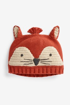 Fox Knitted Hat (0mths-2yrs)
