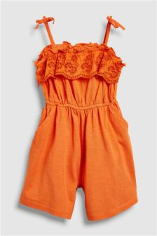 Broderie Playsuit (3mths-6yrs)