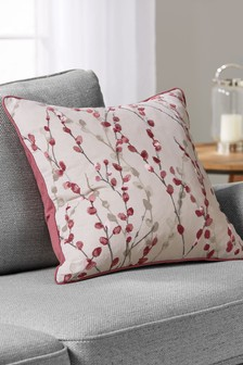 Willow Embellished Floral Cushion