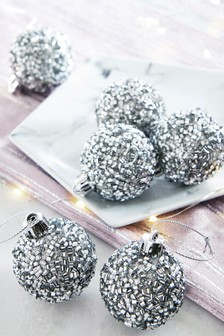 Pack of 6 Mini Baubles