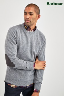 Barbour® Grey Colton Crew Jumper