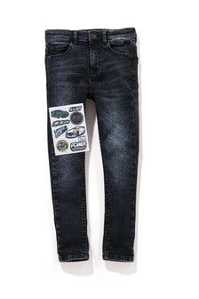 Чернильные сильно зауженные джинсы с пятью карманами (3-16 лет)