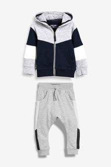 Colourblock Hoody And Joggers Set (3mths-6yrs)