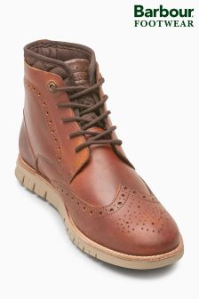 Barbour® Tan Clement Brogue Derby Boot