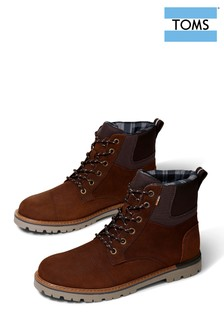 TOMS Brown Waterproof Ashland Lace-Up Boots