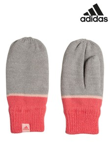 adidas Handschuhe mit Streifen, Grau