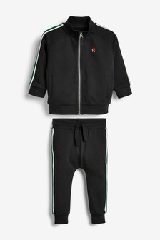 Taped Funnel Neck Zip Through And Joggers Set (3mths-7yrs)