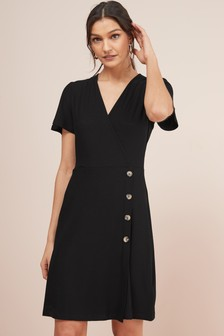 Wrap Button Dress