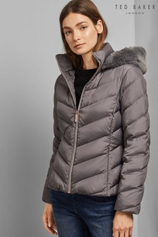 Ted Baker Grey Short Padded Coat