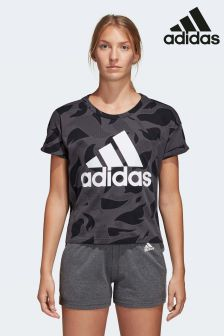 adidas Dark Grey Logo Tee