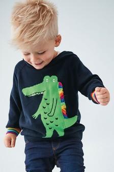 Crocodile Knitted Hoody (3mths-7yrs)