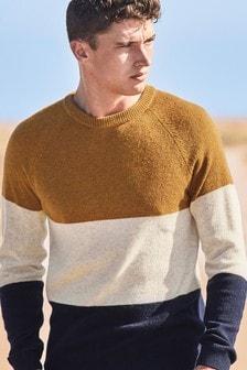 Colourblock shirt met ronde hals