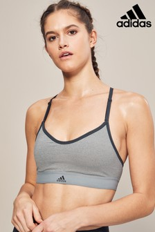 adidas Grey All Me Halter Bra